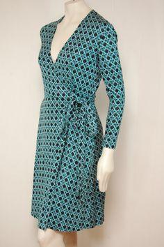vintage diane von furstenberg silk wrap dress