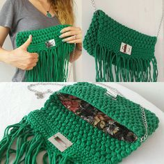 Crochet de sac au Crochet, embrayages, sac à main, embrayages, pour elle, autres accessoires, sacs, articles tricotés, Young Girl sacs, tendances au Crochet, Accesory