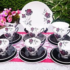ROYAL ALBERT Masquerade Vintage Tea Set