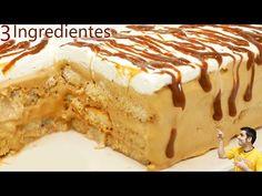 PASTEL con solo 3 INGREDIENTES de DULCE de LECHE delicioso 🍰🥧¡SIN HORNO y SIN GELATINA!🍰🥧 - YouTube Sin Gluten, Deli, Baked Goods, Tiramisu, Fondant, Oven, Food And Drink, Pudding, Cake