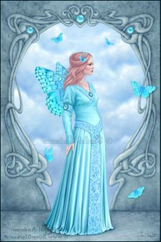 Aquamarine Birthstone Butterfly Fairy Jigsaw Puzzle - birthday diy gift present custom ideas Fantasy Mermaids, Unicorns And Mermaids, Fantasy Fairies, Magical Creatures, Fantasy Creatures, Fantasy Kunst, Fantasy Art, Kobold, Mermaid Fairy
