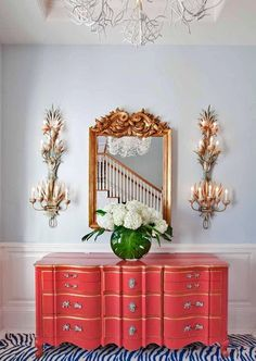 painted dresser, beautiful.