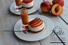 Cheesecake sans cuisson aux nectarines