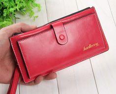 Ladies Women Wallets Syntheetic Leather Purses Long Wallet Women Elegant Female Red Women's Wallets Woman Leather Wallet Purse