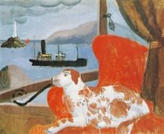 China dog in a St. Ives window - Christopher Wood