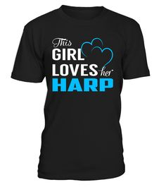 This Girl Love Her HARP Last Name T-Shirt #Harp