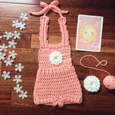 New Daisy Rompers! 0-3 months and 3-6 months sizes added. Adorable for newborn photography! Ready to Ship-Handmade with LOVE