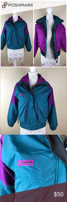 Columbia Powder Keg reversible jacket Columbia reversible Powder Keg jacket. Like getting two winter jackets for the price of one! Teal green on one side, and purple on the the other. Super warm and perfect for be snow. Open to offers, no trades. Columbia Jackets & Coats Puffers