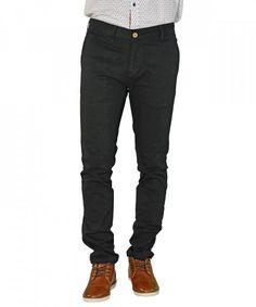 Ανδρικό παντελόνι υφασμάτινο μονόχρωμο μαύρο Ben Tailor 0012017 #ανδρικάπαντελόνια #υφασμάτινα #μόδα #ρούχα #στυλ #χρώματα
