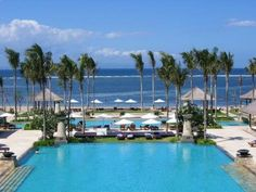 My favorite! Intercontinental Jimbaran Bay, amazing pools and sculptures