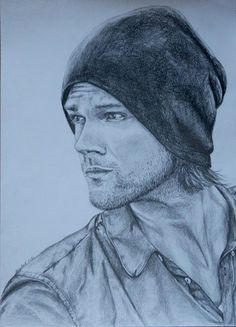 Pencil drawing of Jared Padalecki.