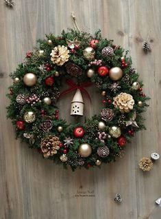 クリスマスリース(4317)~Happy holidays!~ 36cm