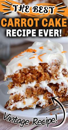 This easy CARROT CAKE Recipe is super moist and delicious, and has the most perfect cream cheese icing ever. This cake is guaranteed to become one of your go-to dessert recipe for all occasions. Cake Recipes From Scratch, Easy Cake Recipes, Easy Desserts, Baking Recipes, Delicious Desserts, Easy Carrot Recipes, Sweet Desserts, Box Carrot Cake Recipe, Icing For Carrot Cake