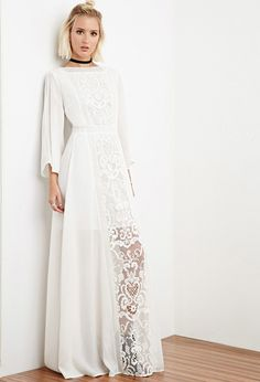 FOREVER 21 The Allflower Crochet Chiffon Maxi Dress. Yes please. My upcoming concert begs for this dress. :)