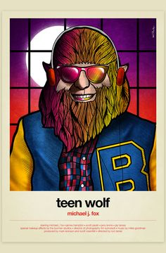 Movie Poster Movement — Teen Wolf by Van Orton Designs The Best Films, Great Movies, Teen Wolf 1985, Wolf Movie, Foxes Photography, Movie Poster Art, Film Posters, Alternative Movie Posters, Cult Movies