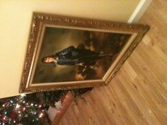 """The blue boy"" by Gainsborough .. Another favorite painting of mine ... No room to hang it yet!! I've got too many pictures LOL"
