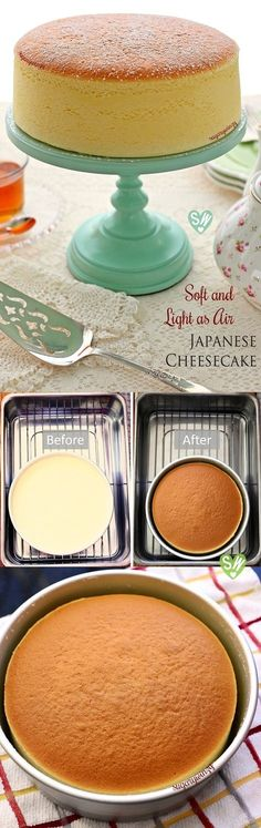 Japanese cheese cake is similar to the cheese cake I invented -- should try it to see if the minor differences are an improvement