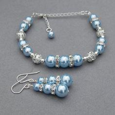 Baby Jewelry, Jewelry Sets, Bridal Jewelry, Bead Jewellery, Wire Jewelry, Jewelery, Bridesmaid Accessories, Bridesmaid Jewelry, Beaded Earrings
