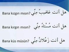 Türk Learn Turkish Language, Arabic Language, Turkish Lessons, Learning Arabic, Music Download, Idioms, Arabic Quotes, Ramadan, Sentences