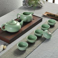 China Porcelain Ru Kiln Kung Fu Tea Set $58.59