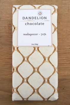 Dandelion Chocolate: Pure cocoa beans and sugar chocolate bars.