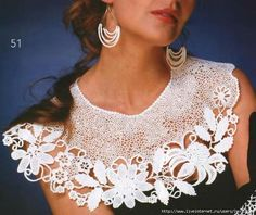 crochet lace collar - lots of collar patterns, but this one isn't there!!  boo hoo