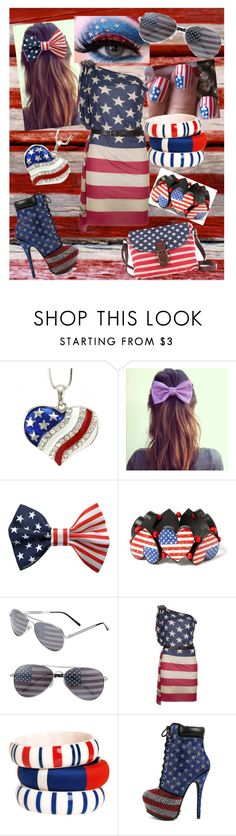 """""""Happy 4th of July!!"""" by faleur102 ❤ liked on Polyvore featuring claire's, BP., Dsquared2, By Malene Birger and Kirra"""
