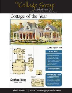 Southern Living Magazine, 2002 Coastal Living Cottage of the Year, House Plan 593, Moser Design