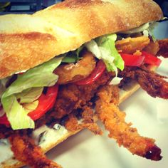 Soft shell crab po' boy