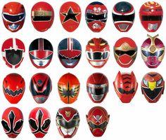 Red Rangers Helmets - MMPR onwards