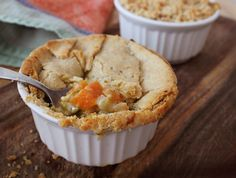 Individual Gluten-Free, Dairy-Free Autumn Vegetable Pot Pies