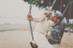 Playful & Intimate Beach, Bicycles & Swings Engagement Shoot | Bridal Musings