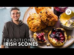Traditional Irish Scones - EASY Home Baking Recipe! - YouTube Irish Desserts, Irish Recipes, Easy Desserts, Biscuit Cinnamon Rolls, Irish Scones, Nutella Muffins, Sugar Free Maple Syrup, Sandwich Fillings, Great Recipes