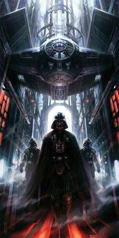 Vader heading to the hanger on the Death Star 1