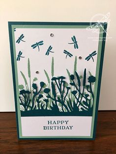 You might have noticed by my logo that I like dragonflies. This Friend Like You card uses the colours Pretty Peacock and Mint Macaron. It's Your Birthday, Birthday Cards, Happy Birthday, Dandelion Wish, Making Greeting Cards, Christmas Cards To Make, Thank You Gifts, Dragonflies, Go Shopping