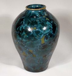 Teal and Green Crystalline Glaze Vase by MorganHarrisPottery, $45.00