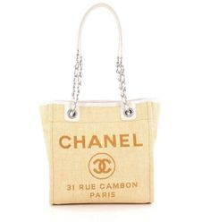 db98b5d49bca Chanel North South Tote Deauville Small Lightweight Yellow