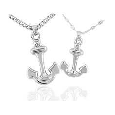 【Jewelry in My Box】Cute Anchor Couples Necklaces in Titanium Steel