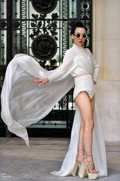 Miss Michelle Harper - at Chanel - Paris