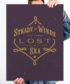 Steady The Winds print by Adam Trageser via Help Ink