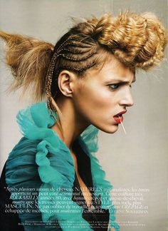 Braid by Eugene Souleiman - Anja Rubik for Vogue Paris March 2010 - 5
