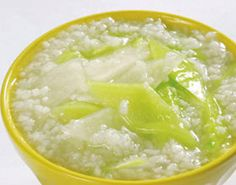 cucumber egg porridge, help to lose weight ,but both delicious