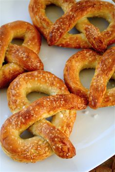 Hot Buttered Pretzels. Soon it will be cold enough outside that I will not mind my oven being 500 degrees.