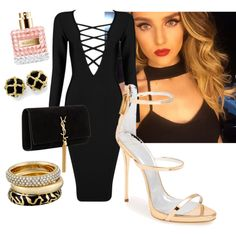 Imagine Perrie with this❤️ by mariamakbbh on Polyvore featuring polyvore, fashion, style, Posh Girl, Giuseppe Zanotti, Yves Saint Laurent and Michael Kors