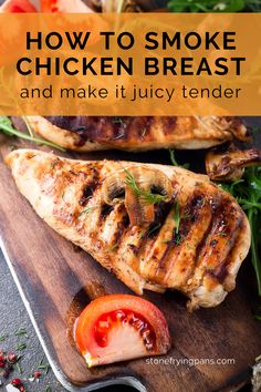 Smoked Chicken Breast Recipe, Smoked Chicken Recipes, Recipe Chicken, Pellet Grill Recipes, Grilling Recipes, Smoking Recipes, How To Smoke Chicken, Trager Grill, Smokey Bones