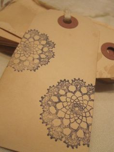 Distressed Gift Tags  Vintage Inspired  / Doilies by TeatroRosso, $4.99