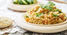 Recette de Risotto de quinoa light aux carottes et blanc de poulet pour déjeuner léger. Facile et rapide à réaliser, goûteuse et diététique.