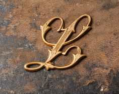 letter l decor | ... , notebook cover decor, embellishment, Victorian alphabet, letter L