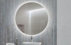 FOCCO Dara LED spiegel Ø rond met touchbediening Bathroom Lighting, Led, Mirror, Furniture, Home Decor, Bathroom Light Fittings, Bathroom Vanity Lighting, Decoration Home, Room Decor