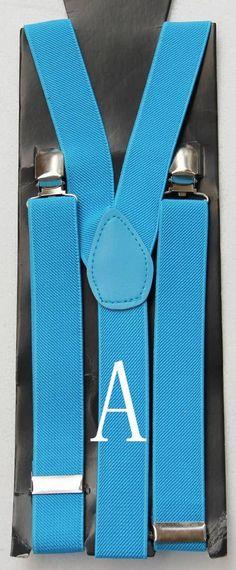 Aqua Suspenders Traditional Classic Style Double Button Strap /& Clips